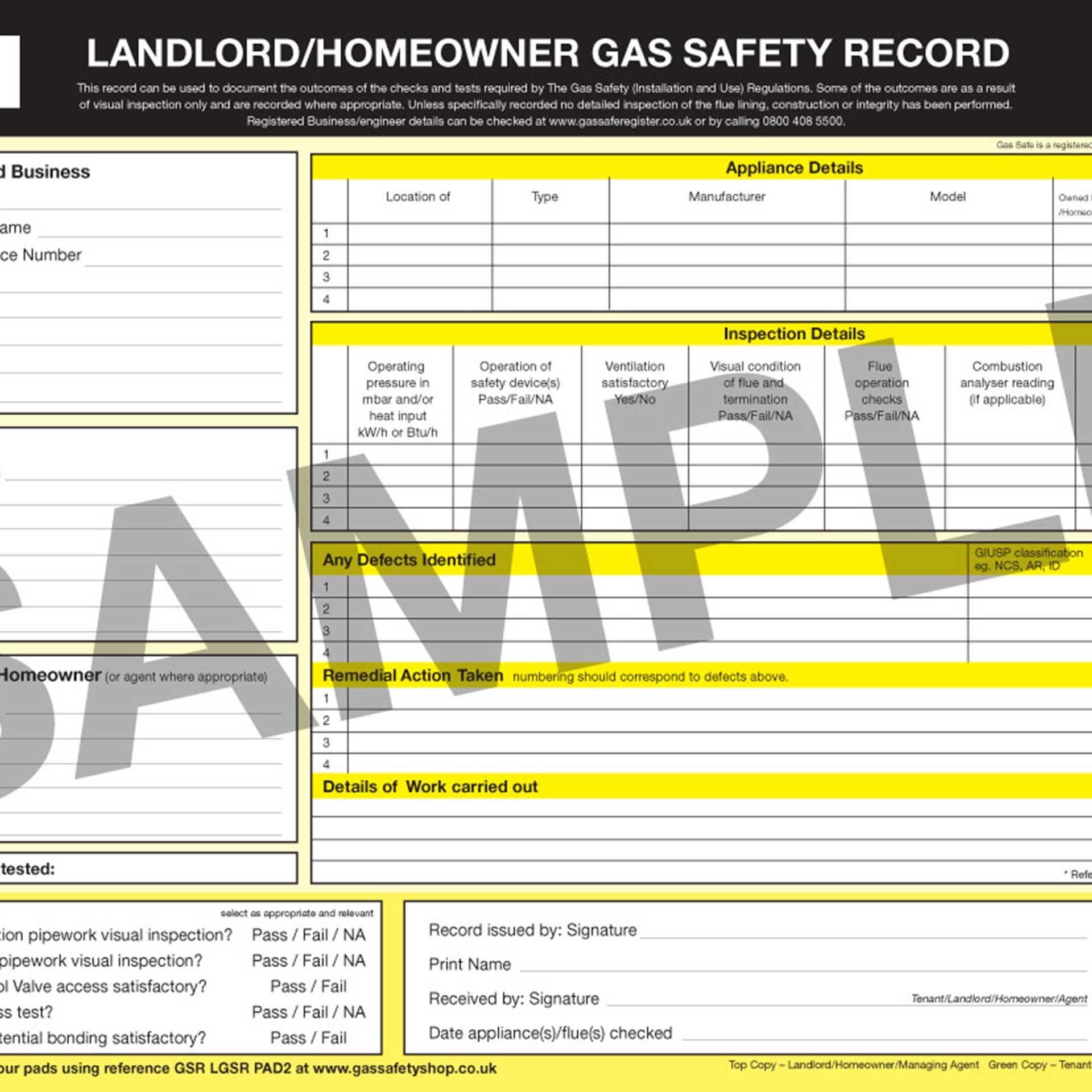 Landlord Gas Safety Certificate image